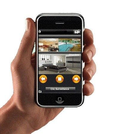 vid o surveillance sur iphone et pc clic surveillance centerblog. Black Bedroom Furniture Sets. Home Design Ideas